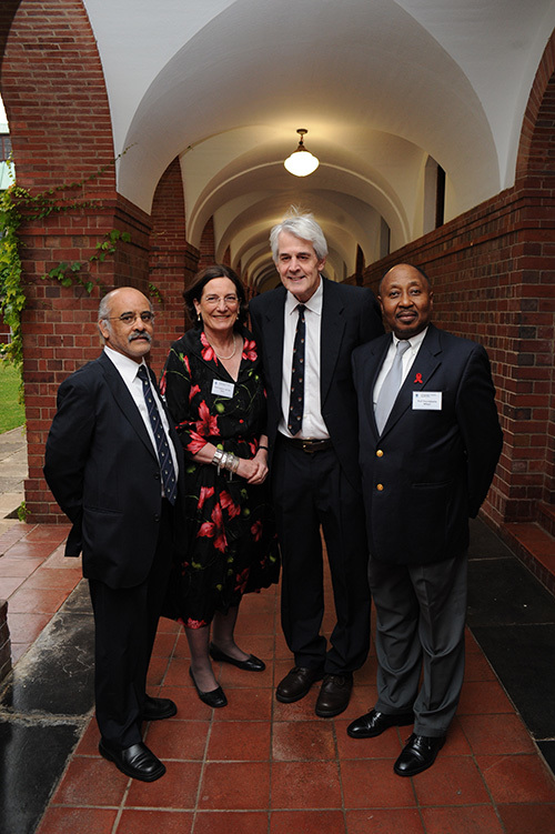 Teachers apart: (From left) The winners of the 2010 Distinguished Teacher Awards are (second and third from left) Profs Zephne van der Spuy and Roland Eastman, here with DVCs Prof Crain Soudien (far left) and Prof Thandabantu Nhlapo.