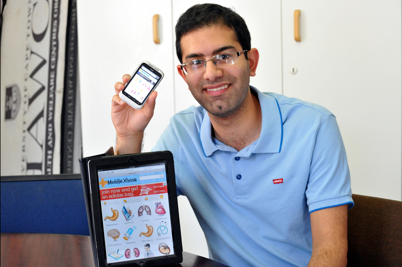 Get the message: Sixth-year medical student and president of SHAWCO Health Saadiq Moolla's Mobile Xhosa site provides medical translations for students and healthcare practitioners via cell-phone.