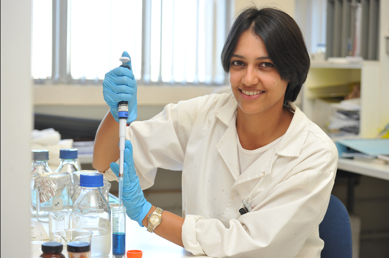 Crystal clear: Dr Reyna Ballim, in the laboratory where she works to identify the crystal structure of a cancer-driving protein.