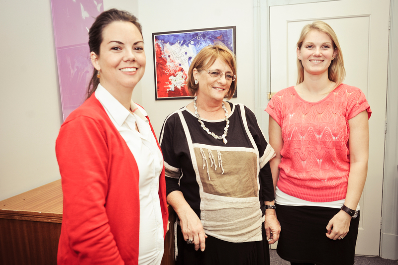 Gene team: Prof Jacquie Greenberg (middle) with genetic counsellors Frieda Loubser (left) and Nakita Verkijk.