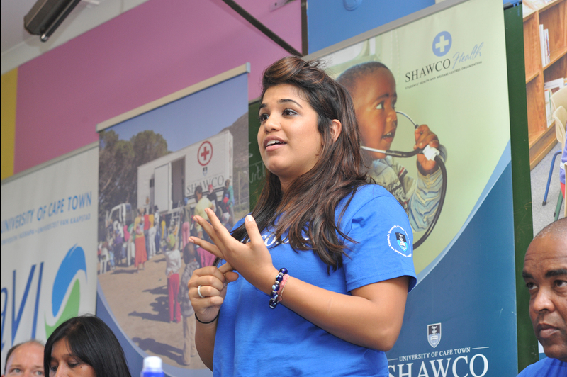 At the coal-face: Baveena Nathoo shared her experiences as a SHAWCO volunteer at the organisation's Community Day in Manenberg.