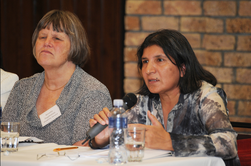 (Right) UN Special Rapporteur on Violence, Prof Rashida Manjoo (keynote speaker) with Reinette Popplestone (Head: Disability Service).