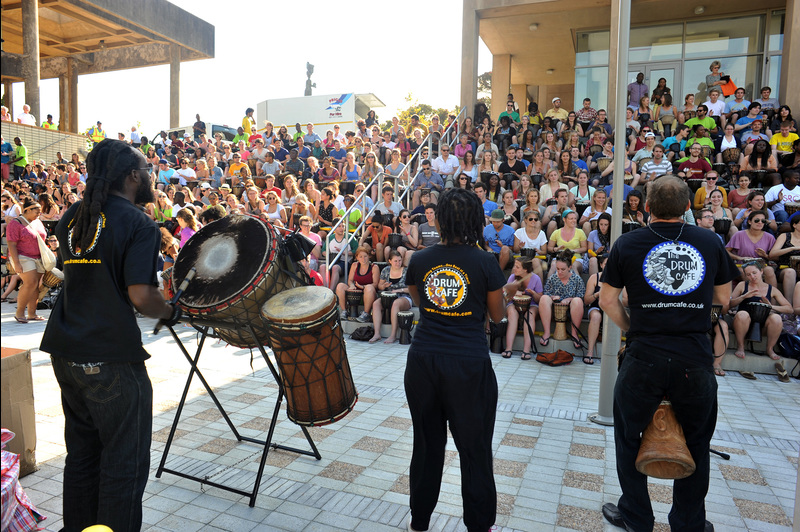 Beat goes on: The Semester Study Abroad programme at UCT welcomed 635 international students who hailed mostly from North America, Europe and Australia to UCT at a mass drumming event. Study Abroad is a popular option for students from those countries.