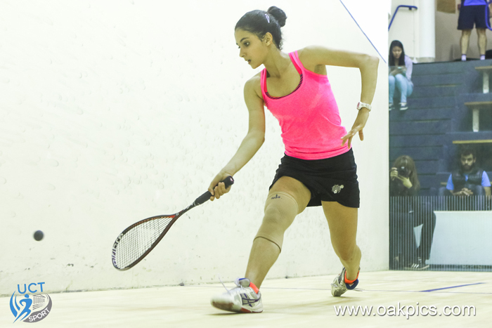 Teenage Egyptian prodigy Rowan Elaraby won the professional women's final of the 2016 Keith Grainger Memorial Squash Open at UCT.