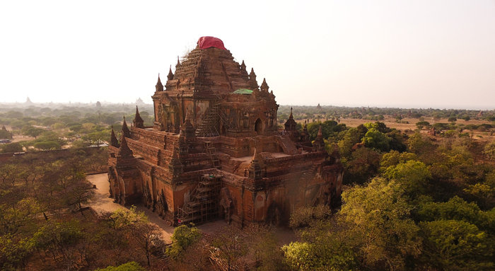 The Sula-mani-gu-hpaya temple in Bagan, one of the more than 130 Buddhist temples and pagodas damaged in last year's earthquake. With its 2 800 monuments, Bagan is one of the richest archaeological sites in Asia.