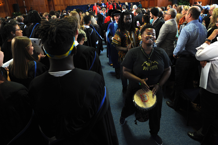 Led by Blackroots Marimba, the graduands and their guests didn't forget to have a good time.