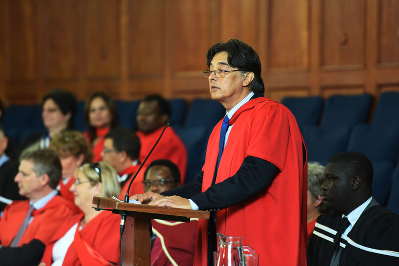 "Guest speaker Prof Heinz Klug urged law and health sciences graduands to ""do no harm"" but to protect the rights and dignity of all they serve in society."