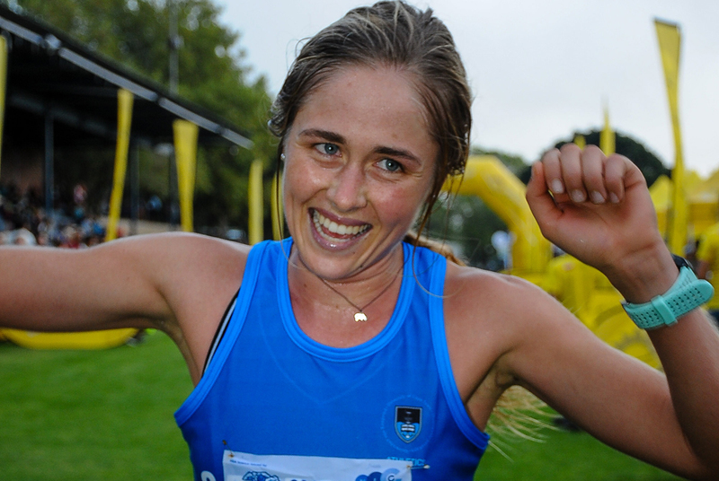 Jessica Pollock wins the 30th Safari Half Marathon on May Day this year.
