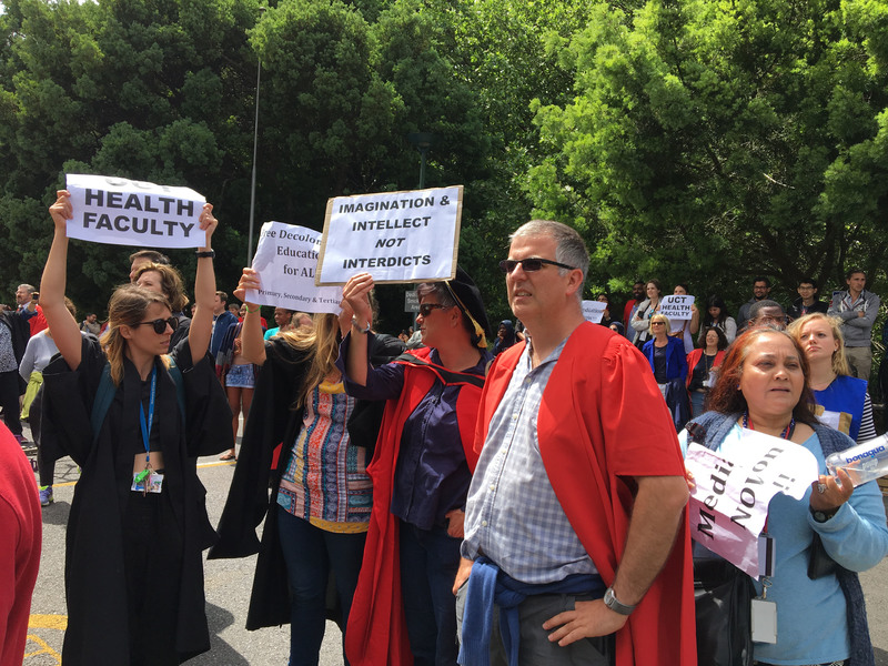Robust engagement between students and staff of UCT's faculty of Health Sciences last year resulted in not only the faculty-wide march to Bremner building in 2016, pictured here, but also a task team that will ensure that students' concerns and demands are heard.