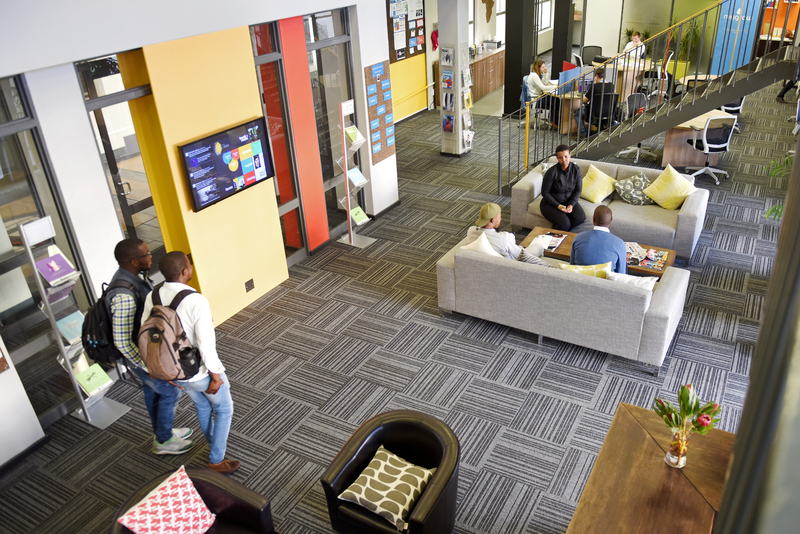 Students in the UCT Graduate School of Business's MTN Solution Space, a platform for students, entrepreneurs, researchers, faculty and innovative partners to envision, build and scale new solutions.