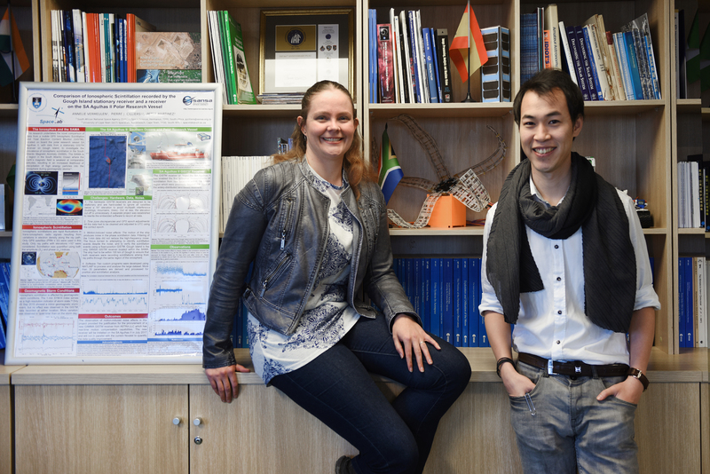 Ani Vermeulen and Louis Feng, of the UCT SpaceLab programme, have been selected by the prestigious Emerging Space Leaders Grant Programme.
