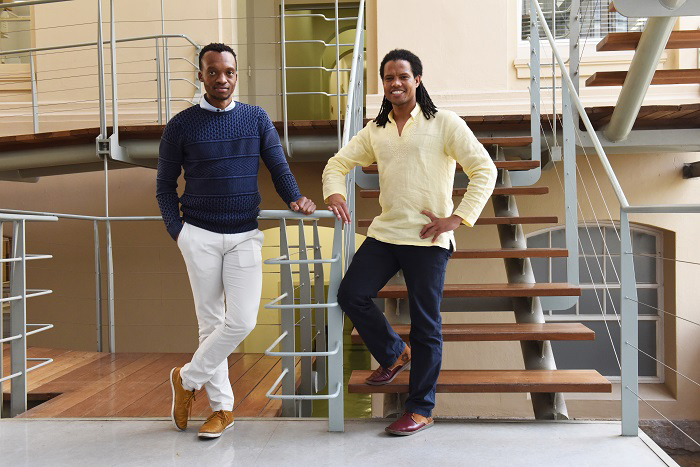 ​​​​​​​Hlumani Ndlovu, senior postdoctoral fellow in TB Immunopathogenesis at UCT, and Mohlopheni Marakalala, senior lecturer and group leader in the Division of Immunology at UCT.