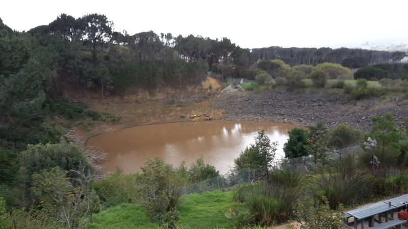 Regrettably, the storage dam on upper campus of UCT is near empty following years of neglect.
