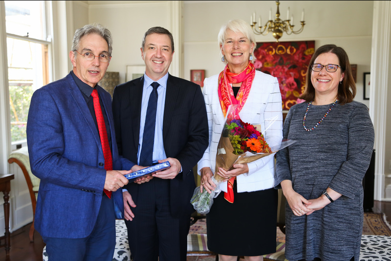 (From left) Vice-Chancellor Dr Max Price, Prof Chris Styles, Mrs Gail Kelly and Prof Ingrid Woolard.