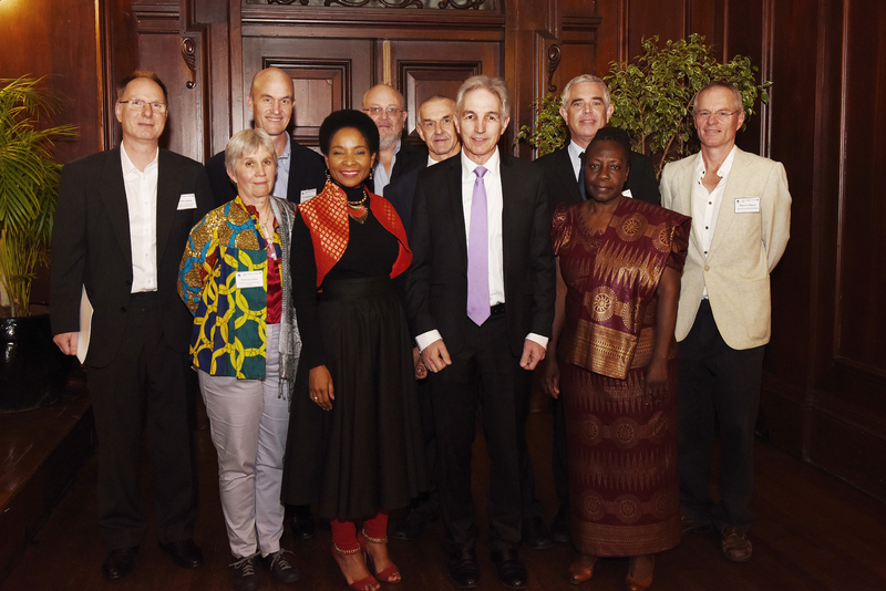 From left: Prof Peter Dunsby, Prof Lucy Gilson, Prof Graeme Meintjes, DVC Prof Mamokgethi Phakeng, Prof Bruce Hewitson, Prof Michael Lambert, VC Dr Max Price, Prof Malcolm Collins, Prof Chuma Himonga and Prof Chris Reason.