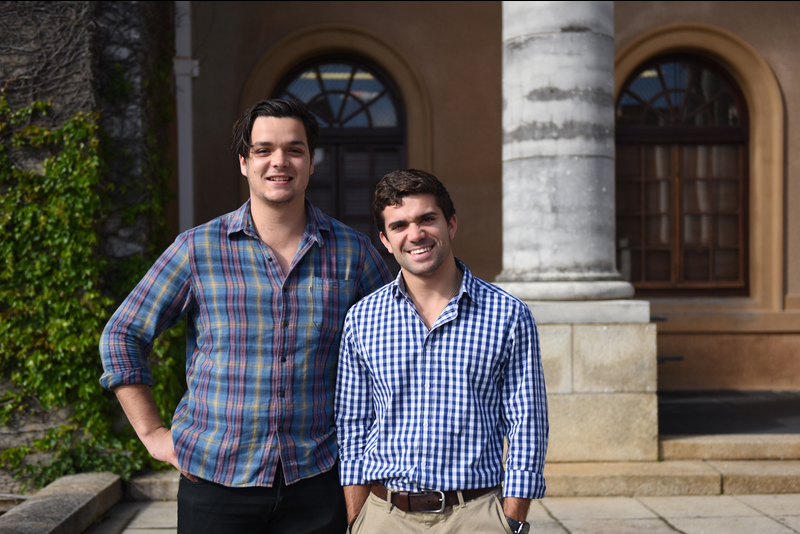 Jono Field and Kosta Kappatos, third-year BBusSc students whose niche tutoring and mentoring business, Get Smart Tutors, has been founded on entrepreneurship, education and outreach.