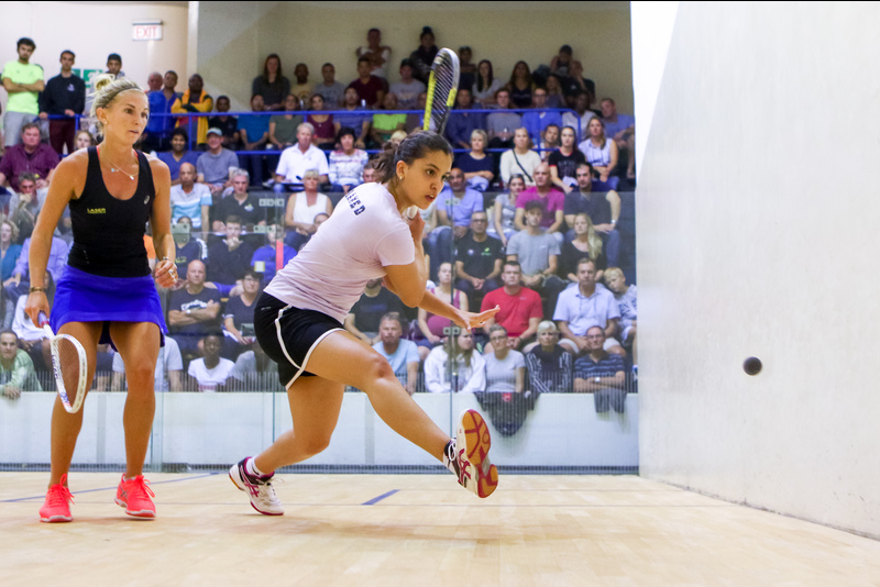 UCT's Alexandra Fuller (left) and Egypt's Menna Hamed battle it out in the final of this year's Keith Grainger Memorial Open, which Hamed eventually won.