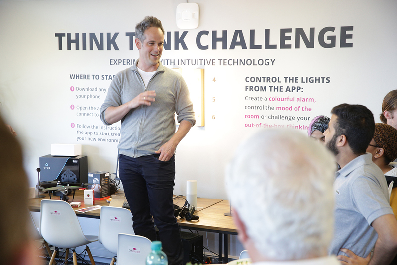 Sam Paddock, co-founder and CEO of GetSmarter, opens the new innovation lab at the Department of Information Systems.