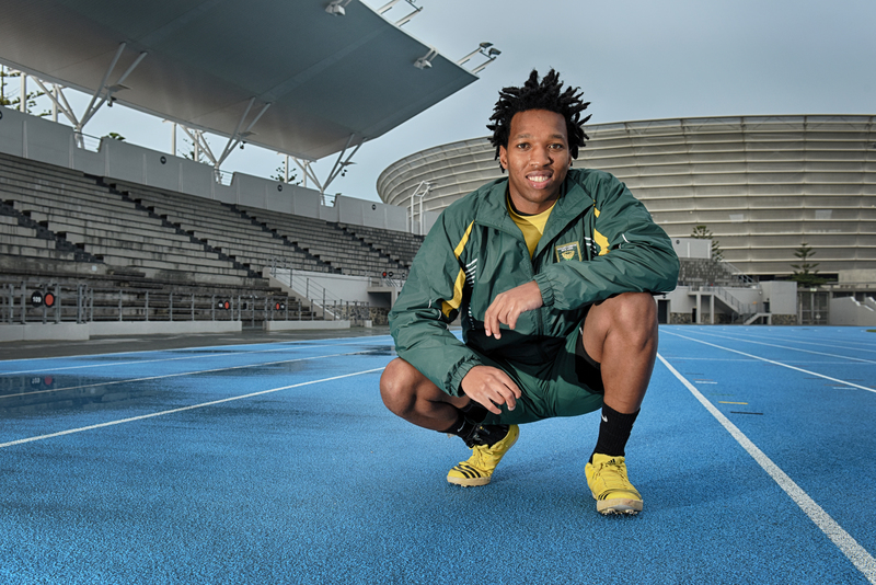 The unstoppable Mpumelelo Mhlongo, UCT's three-time Sportsperson of the Year. Photo Michael Hammond.