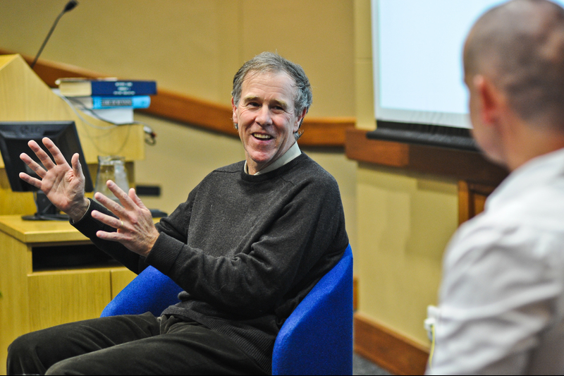 Sports scientist Emer Prof Tim Noakes is UCT's most publicly visible scientist. A new study has found that UCT tops the list of publicly visible researchers in South Africa.