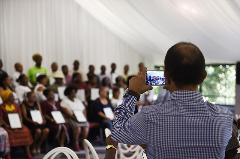 UCT's Long Service Awards celebrated the dedication of 158 members of staff.