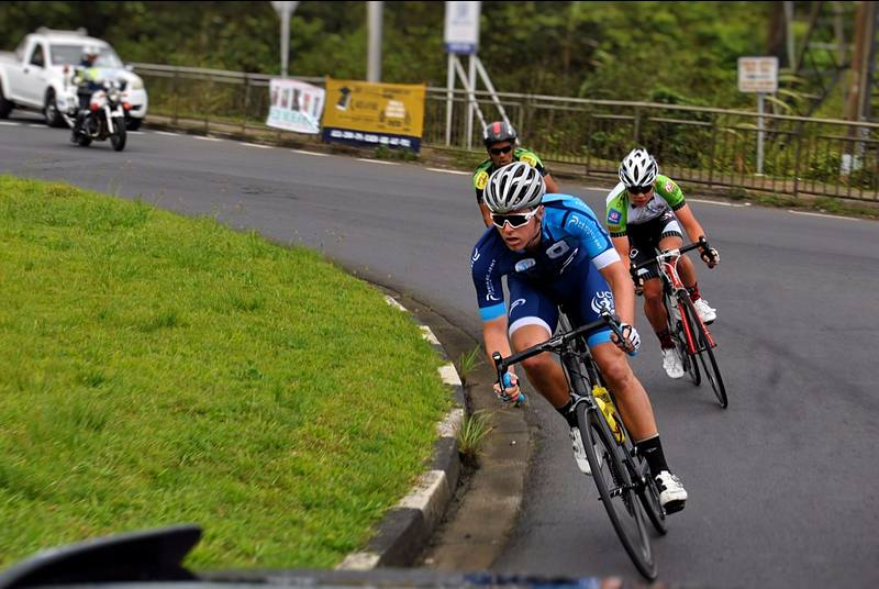 Eyes on the prize: it was this kind of steely focus that saw the UCT cyclists over the finish line in Mauritius.
