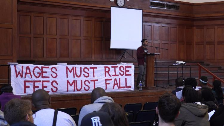 Jameson Hall was packed as students and staff thronged to discuss the possibility of fee-free higher education.