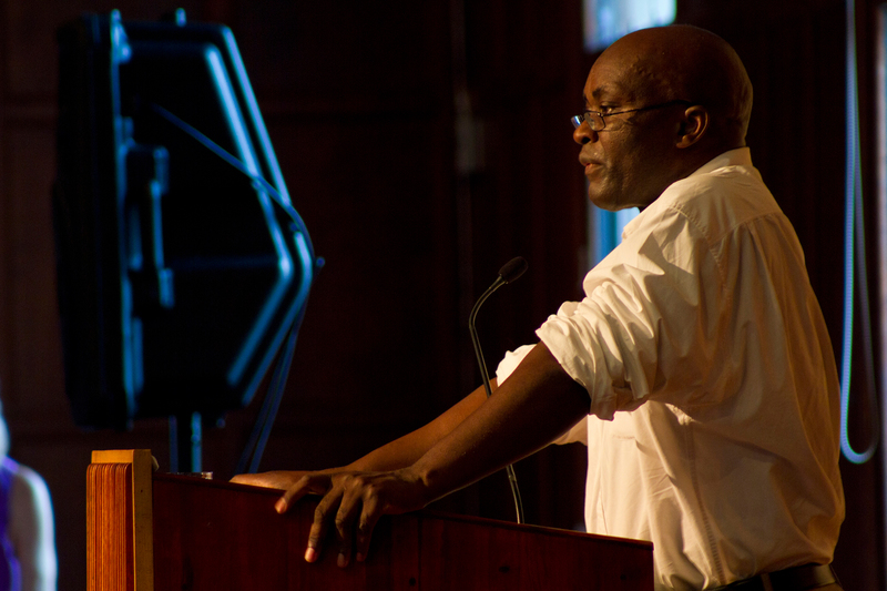 Distinguished guest: Prof Achille Mbembe at the GIPCA symposium. (Photograph Lorna Daniel, image courtesy GIPCA.)