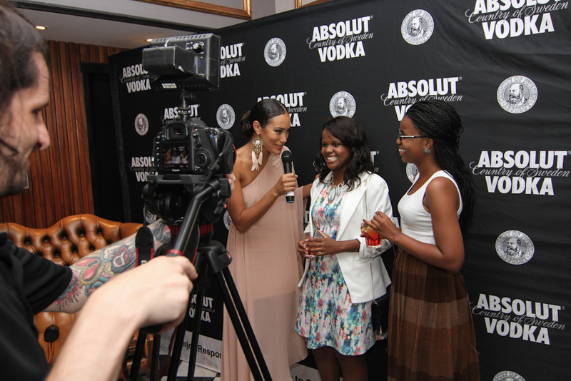 Brandiacs: The winners of Pernod Ricard's International Business Game, UCT commerce students Tetlanyo Lekalake and Thembeka Setlogile, were announced at a gala event hosted by Jo-Ann Strauss (left).