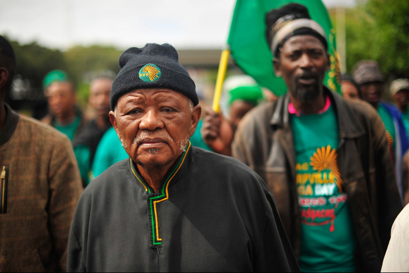 Philip Kgosana marching to Cape Town CBD, remembering 30 March 1960. Photo Henk Kruger / Cape Argus.
