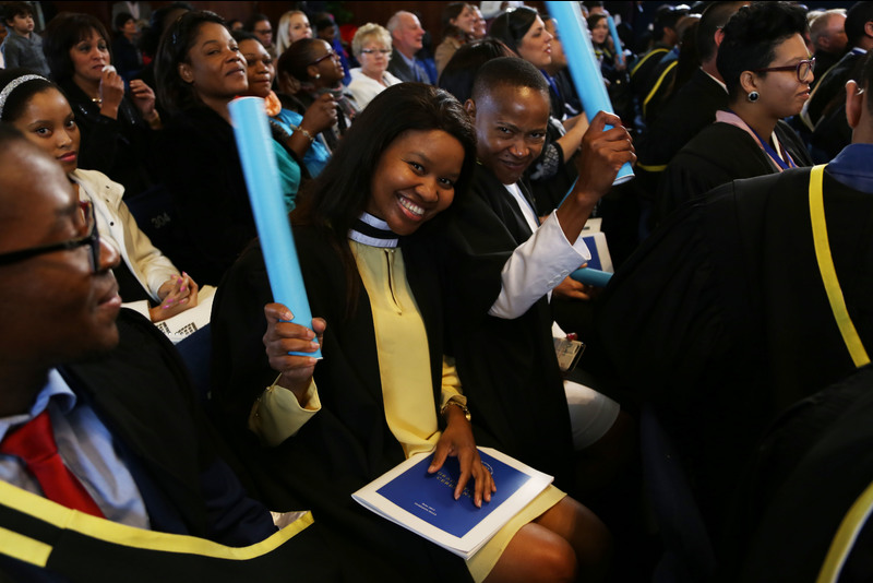 Graduation day for the Faculty of Commerce: some of these students may soon benefit from the recent investment funding received by UCT's African Institute of Financial Markets and Risk Management. Photo Je'nine May.