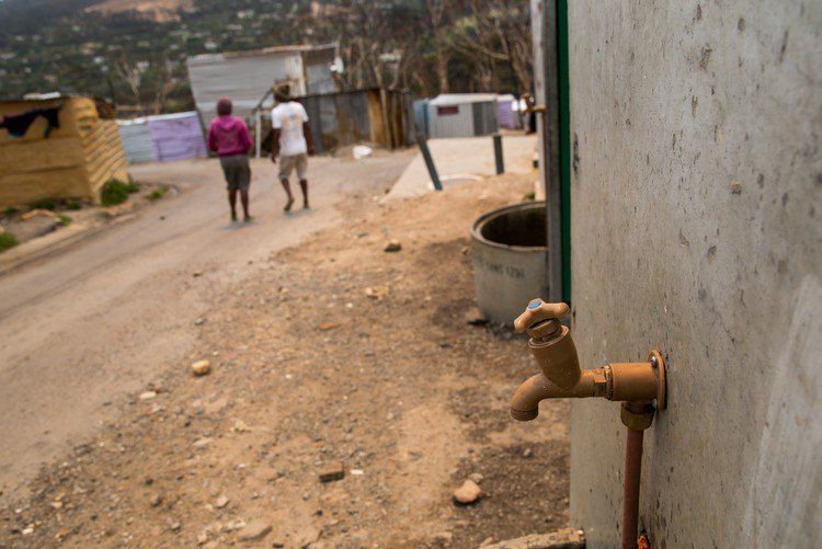 A tap inside the Imizamo Yethu informal settlement in Hout Bay. <b>Photo</b> Ashraf Hendricks.