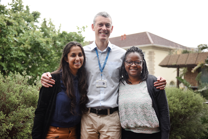 Associate Professor Stevan Bruijns, and two undergraduate health science students, Suniti Sinha (left) and Mmapheladi Mosly Maesela (right) found that one out of six African emergency medicine publications was cost-prohibitive.