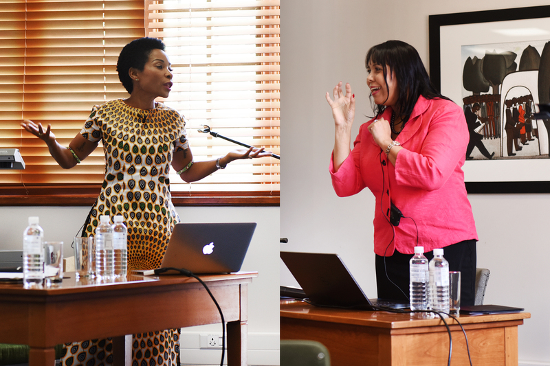 Prof Mamokgethi Phakeng and Prof Vivienne Lawack – the two shortlisted candidates for the role of new VC at UCT.