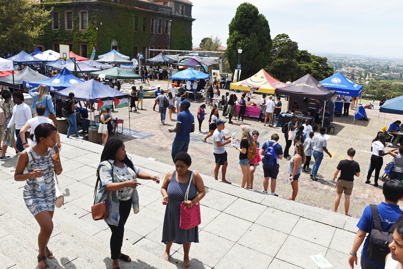 UCT first-years explore what the university has to offer during Plaza Week.