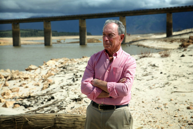 """We cannot let droughts like this become common around the world,"" said Mike Bloomberg, following his recent tour of Theewaterskloof Dam."