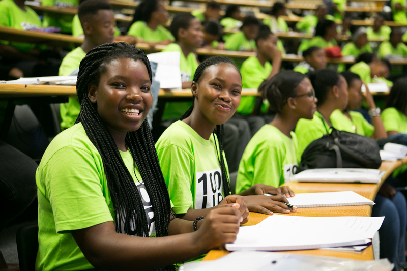 The School Improvement Initiative's 100UP learners attended a series of UCT Summer School lectures earlier this year, introducing them to learning in a university context.
