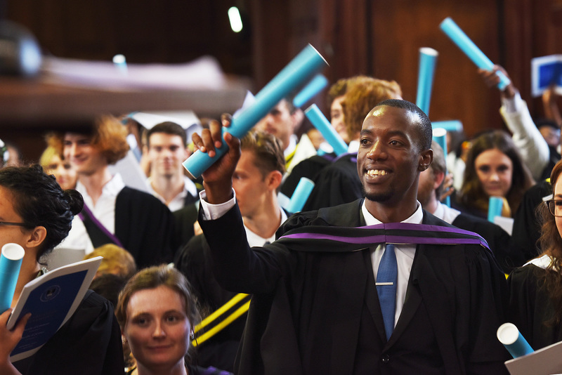 Hands raised in recognition of the work taken to earn a degree at the graduation ceremony for the faculties of Commerce and Science on 5 April.