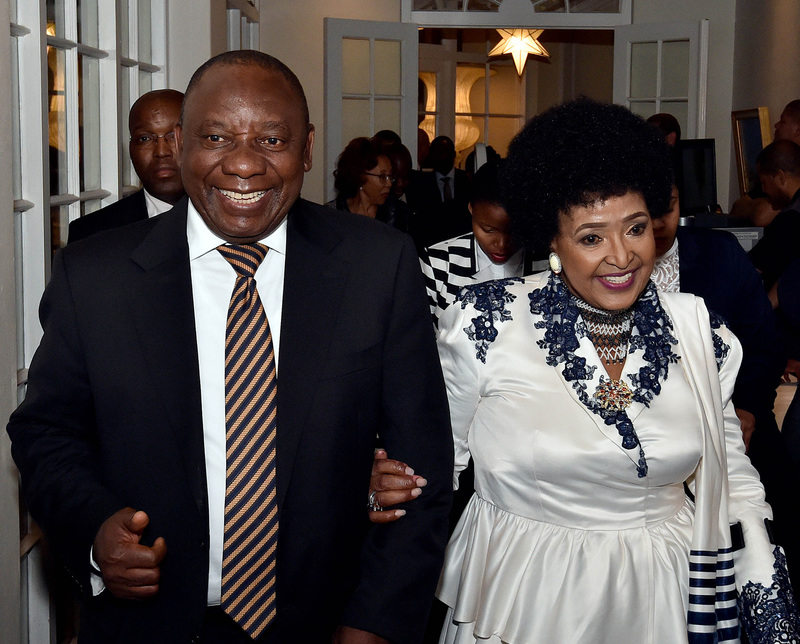 Winnie Madikizela-Mandela with Cyril Ramaphosa at her 80th birthday celebrations held at the Mount Nelson Hotel in Cape Town.
