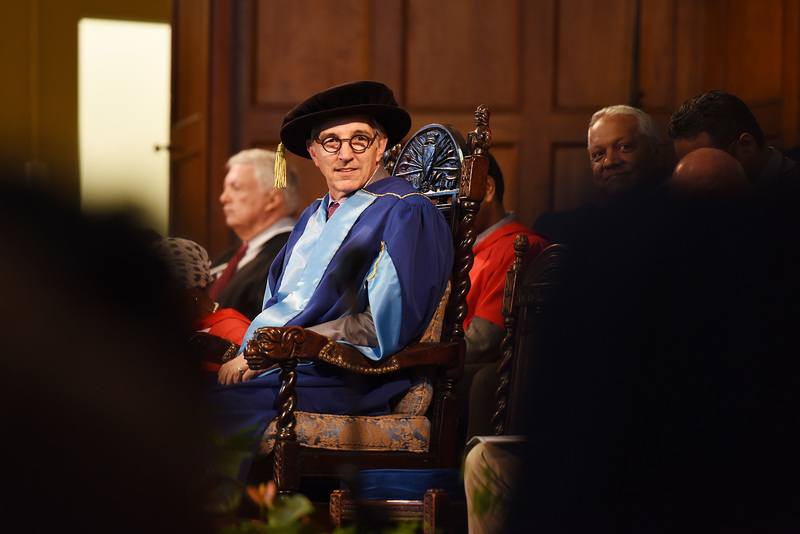 Vice-Chancellor Dr Max Price presiding at the business science graduation ceremony on 10 April, which wrapped up UCT's seven-day graduation season. It was the last big graduation for Price who ends his term at the end of June.