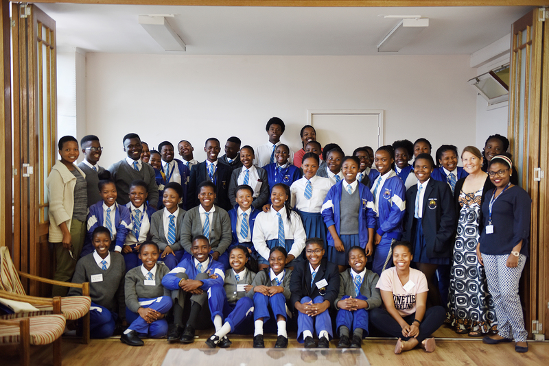 The 40 grade 11 learners from Gugulethu's Fezeka High School who took part in the recent maths boot camp.