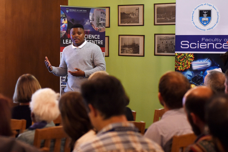 Intelligence is not just about genetics but also influenced by mindset, said mathematician Mashudu Mokhithi at the Pint of Science events at the UCT Club.