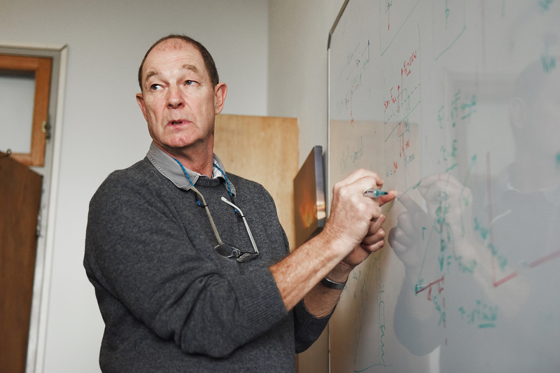 At work: Gregor Leigh, physics lecturer and one of four new Distinguished Teacher Award winners.