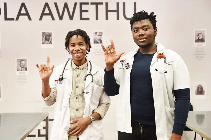 Fourth-year medical students Banele Mhlongo (right) and Vuma Mthembu are developing an app and website to improve the experience of deaf patients using healthcare facilities.