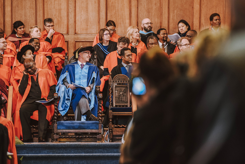 Outgoing VC Dr Max Price officiated at his last graduation ceremony this morning, receiving a standing ovation from graduands, their families and UCT academic staff on the platform.