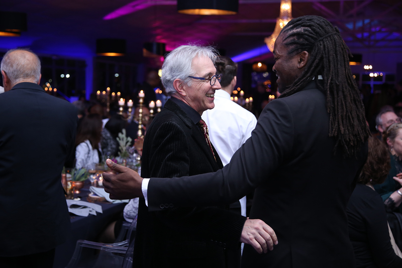 VC Dr Max Price shares a moment with Africa Melane, the master of ceremonies for the evening.
