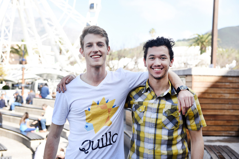 The Quillo team: Tamir Shklaz (left), founder and business lead, and Tristan Brandt, tech lead.
