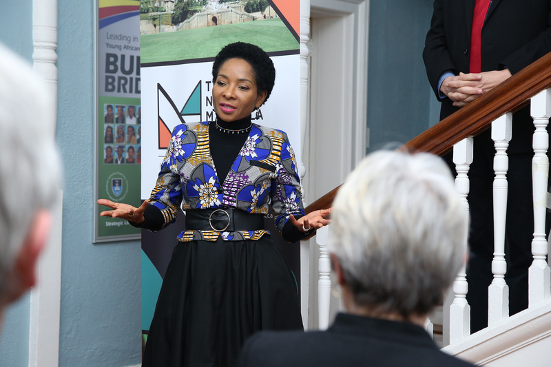 VC Prof Kgethi Phakeng addressed the audience, marking the official launch of the Nelson Mandela School of Public Governance this week.