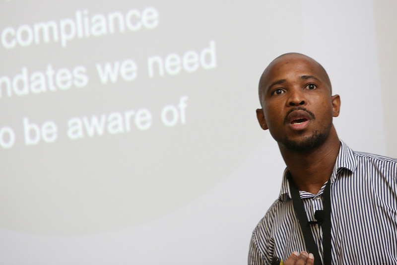 Sikhumbuzo Mthombeni, a security technical architect at Dimension Data, discussed the protection of personal and corporate data.