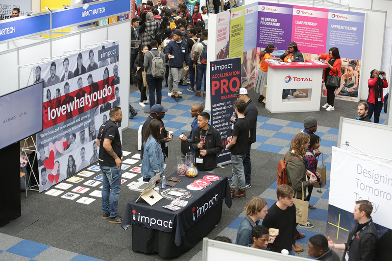 This year's Epic Job Expo was the largest of its kind ever held at UCT, with 100 exhibitors on site to interact with students.